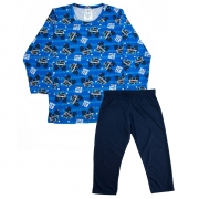 Pijama Infantil Menino Carros Azul