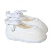 Sapatilha Bebê Com Laço Branca