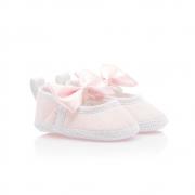 Sapatilha Bebê Com Laço Rosa