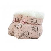 Sapatinho Pantufa Bebê Coelhinho Rosê