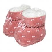 Sapatinho Pantufa Bebê Peixinho Rosê