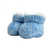 Sapatinho Pantufa Bebê Pintinhas Azul