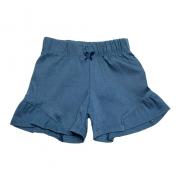 Shorts Bebê Com Recorte   Azul