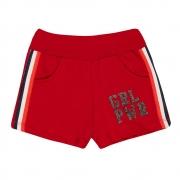 Shorts Infantil Girl Vermelho