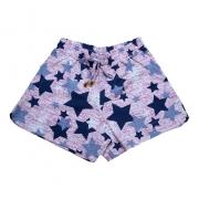 Shorts Infantil / Juvenil Estrelas Rosa