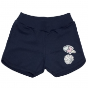 Shorts Infantil Patch Marinho