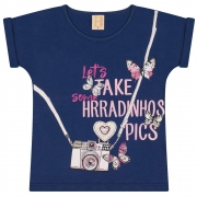 T-Shirt Infantil Photography Marinho