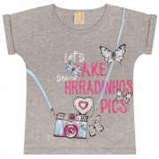 T-Shirt Infantil Photography Mescla