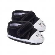 Tênis Bebê Cílios com Velcro Preto