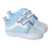 Tênis Bebê Com Cadarço Azul