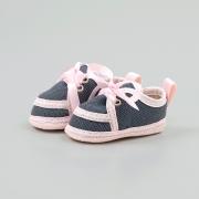 Tênis Bebê Com Cadarço Jeans