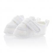 Tênis Bebê Com Velcro Branco