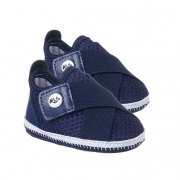 Tênis Bebê Com Velcro Marinho