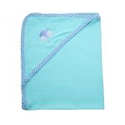Toalha Bebê Com Aplique Verde Com Azul