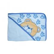 Toalha Bebê Com Touca Azul