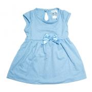 Vestido Bebê Com Laço Azul