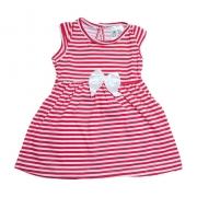 Vestido Bebê Listras Coral