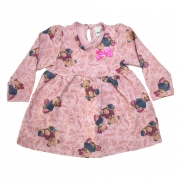 Vestido Bebê Ursinhos Rosê