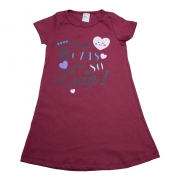 Vestido Infantil Dogs E Cats  Bordo