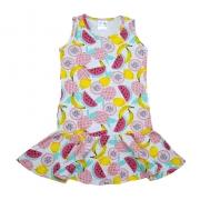 Vestido Infantil Frutas Mescla