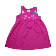 Vestido Infantil Gatinha Pink