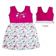 Vestido Infantil Gatinhos Pink