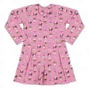 Vestido Infantil Gatinhos Rosa