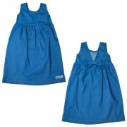 Vestido Infantil Laço Costa Azul