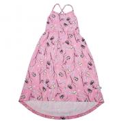 Vestido Infantil Longo Estampado Rosa