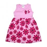 Vestido Infantil Margarida Rosa