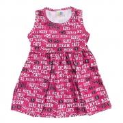 Vestido Infantil Super Cats Pink