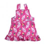 Vestido Jardineira Infantil Flamingo Pink
