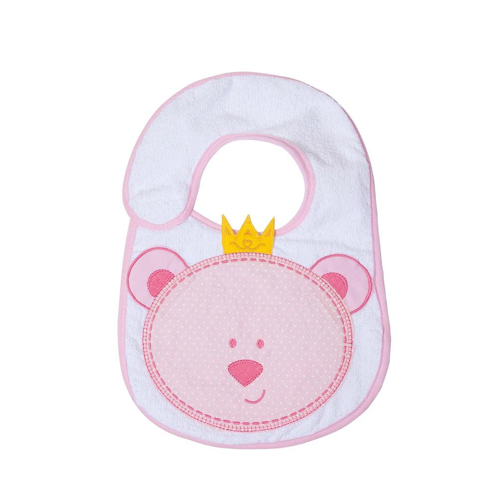 Babador Bebê Felpudo Ursinha Rosa  - Jeito Infantil