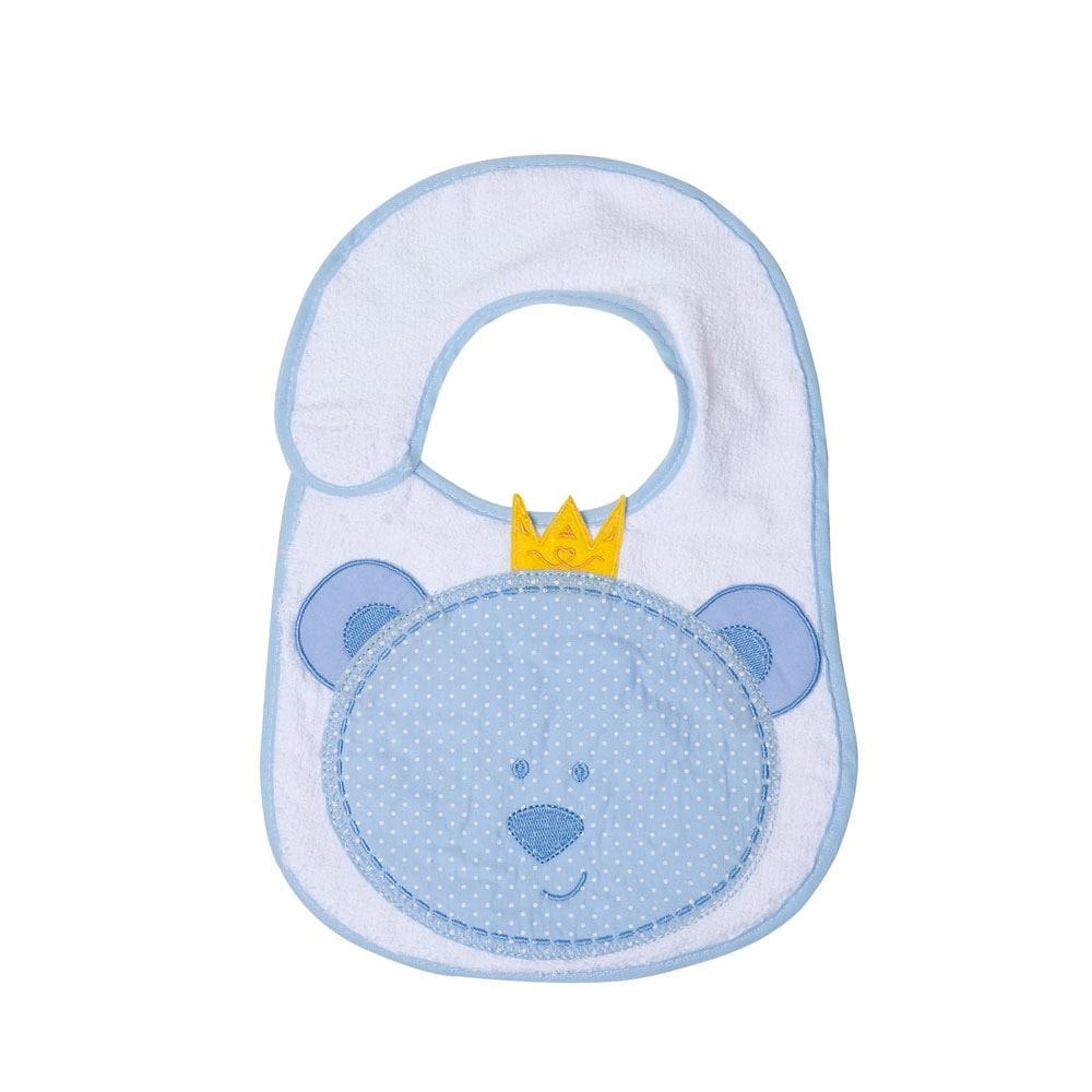 Babador Bebê Felpudo Ursinho  Azul  - Jeito Infantil