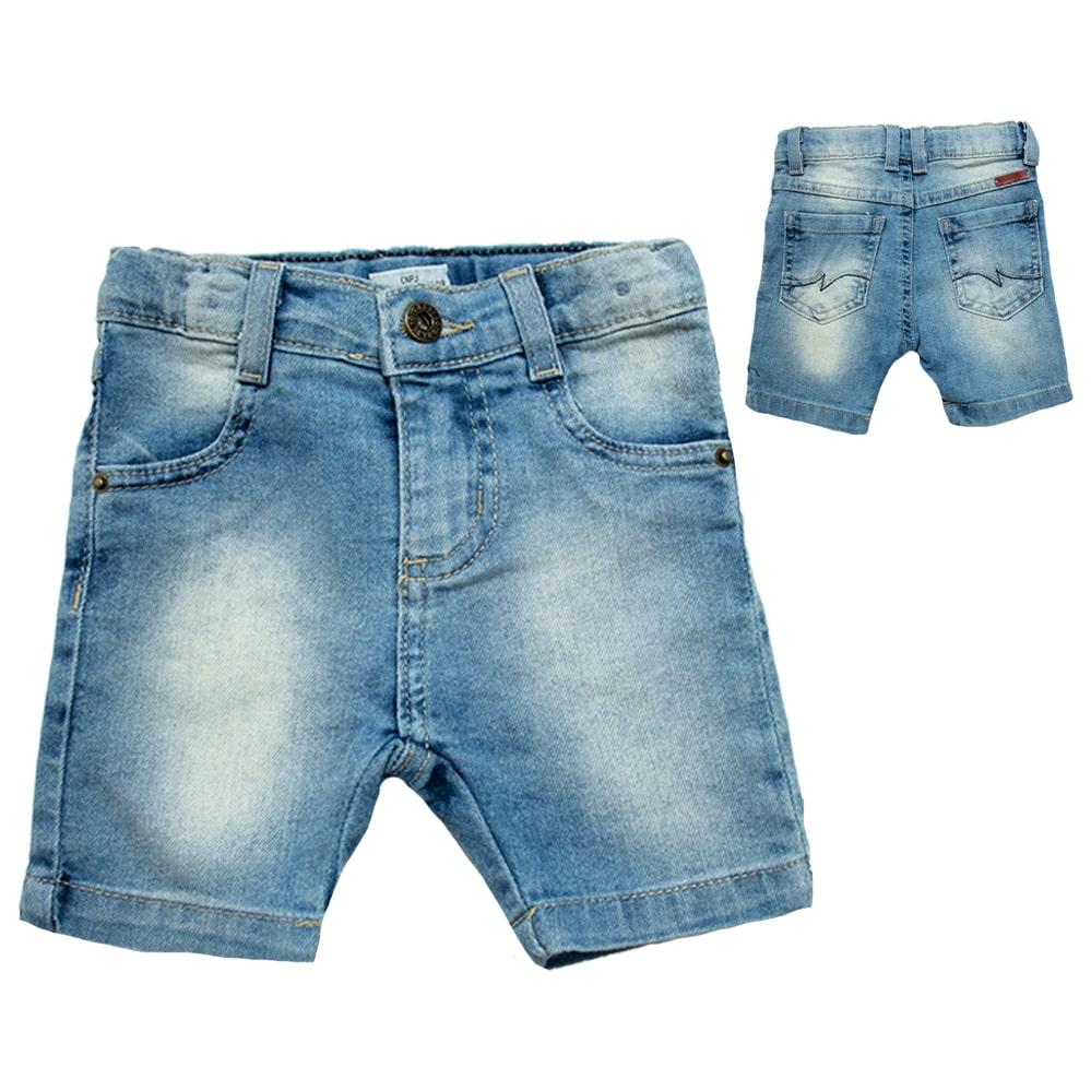 Bermuda Bebê Jeans Azul  - Jeito Infantil