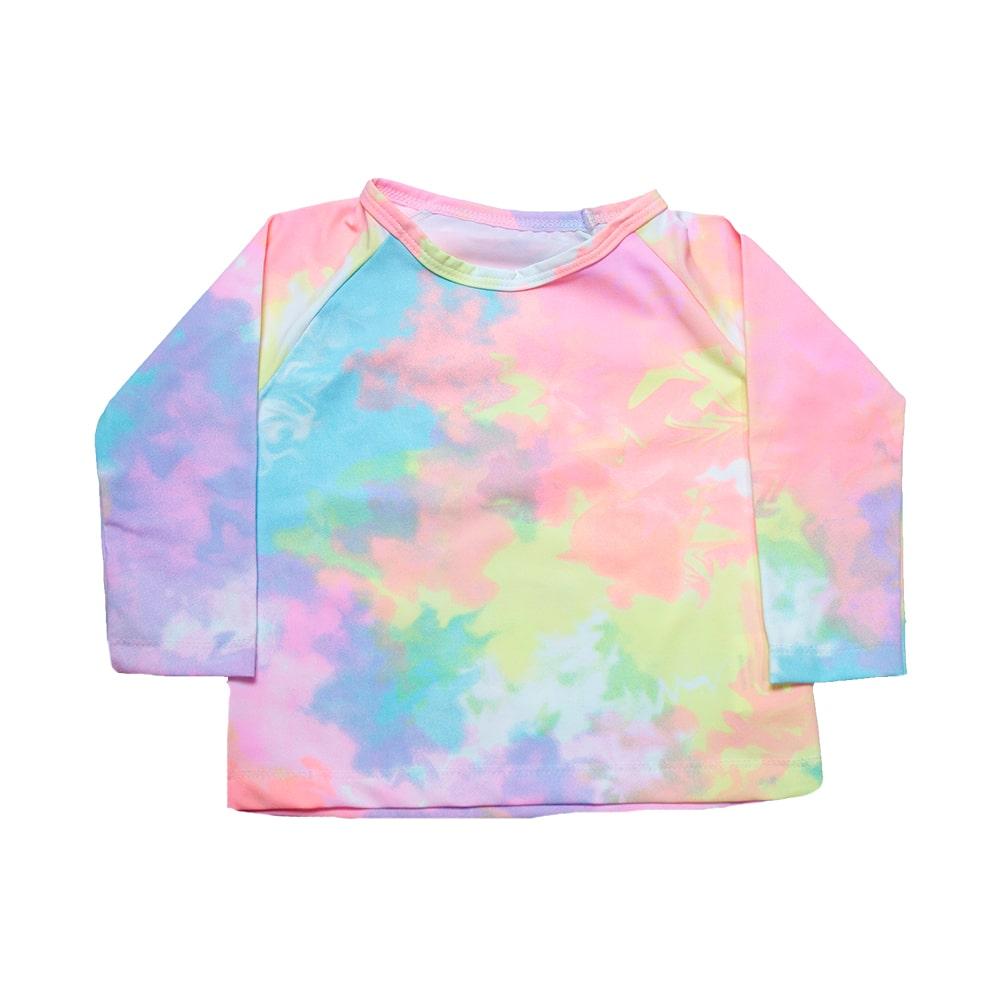 Blusa Bebê Tie Dye De Praia  - Jeito Infantil