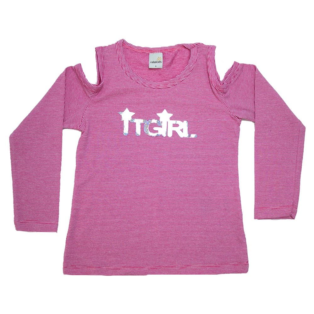 Blusa Infantil It Girl Rosa  - Jeito Infantil