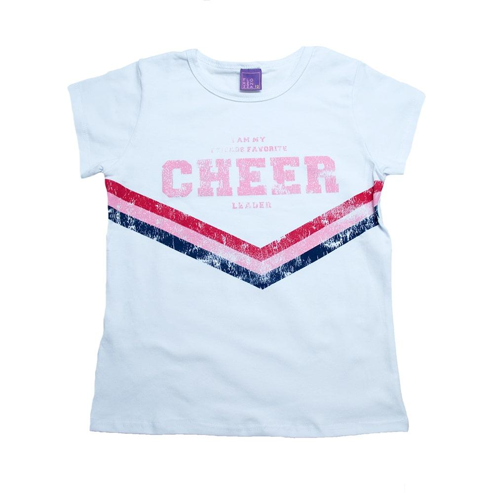 Blusa Juvenil Cheer Branco  - Jeito Infantil
