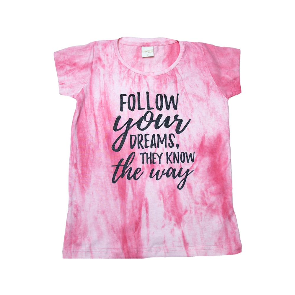 Blusa Juvenil Follow Dreams Rosa  - Jeito Infantil