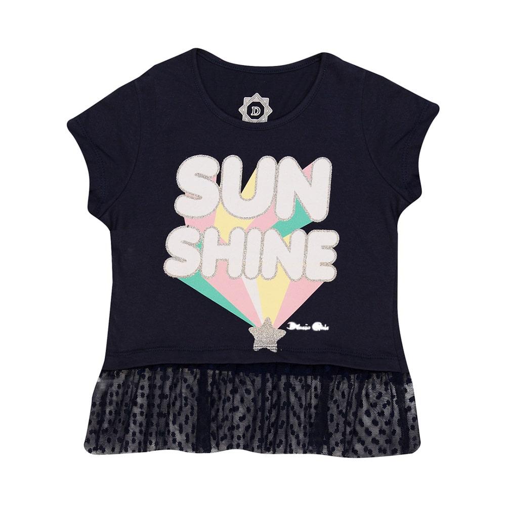 Blusa Juvenill Sun Shine Marinho  - Jeito Infantil