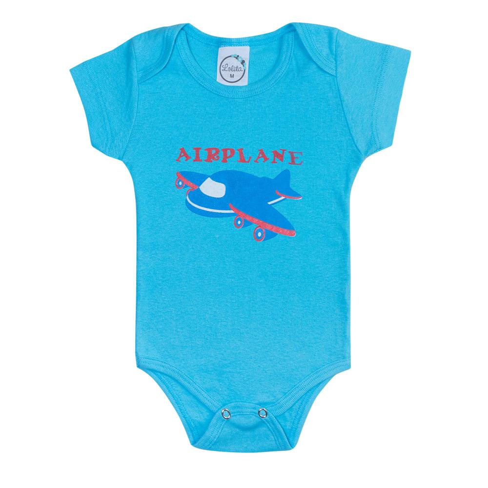 Body Bebê Avião Azul  - Jeito Infantil