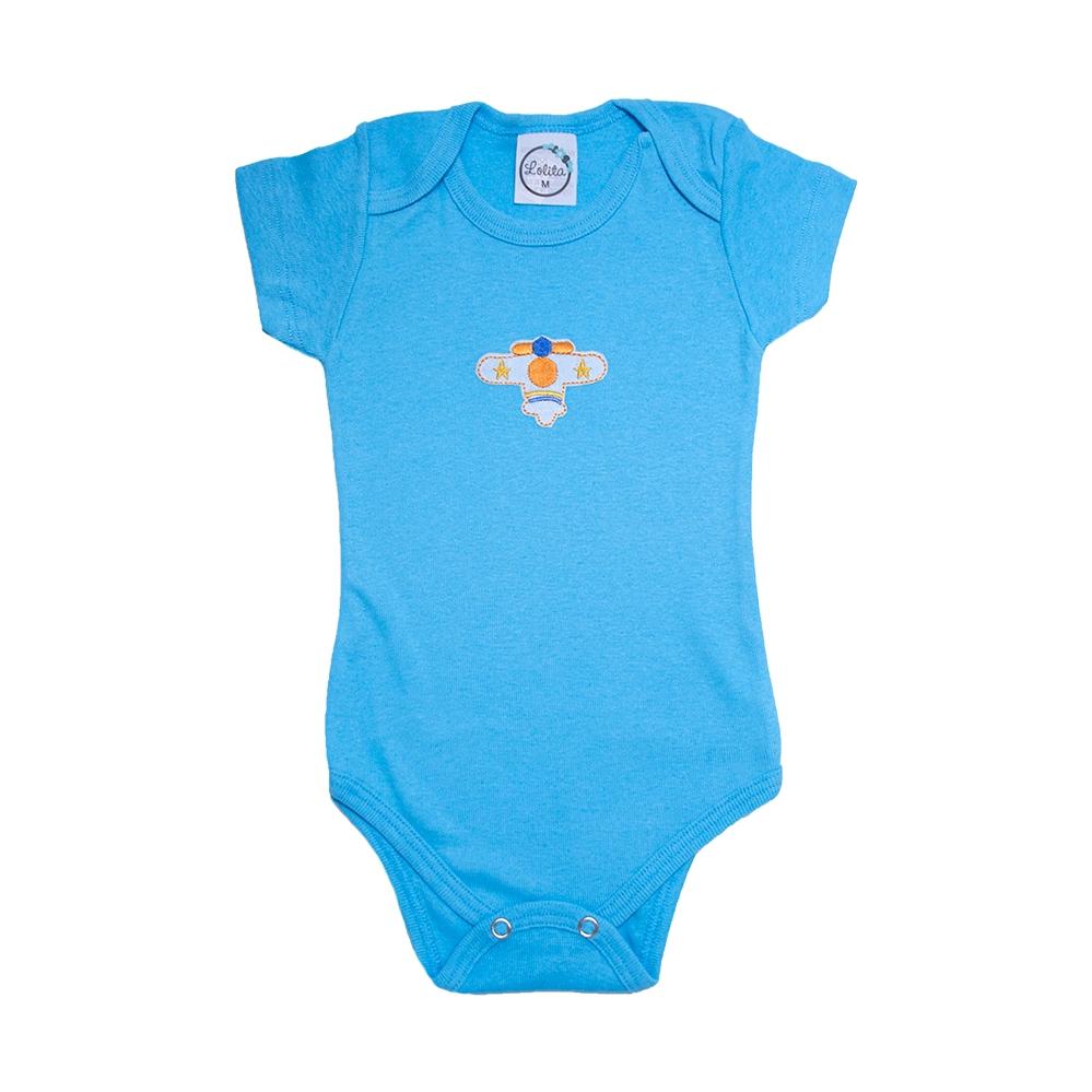 Body Bebê Avião Lolita Azul  - Jeito Infantil