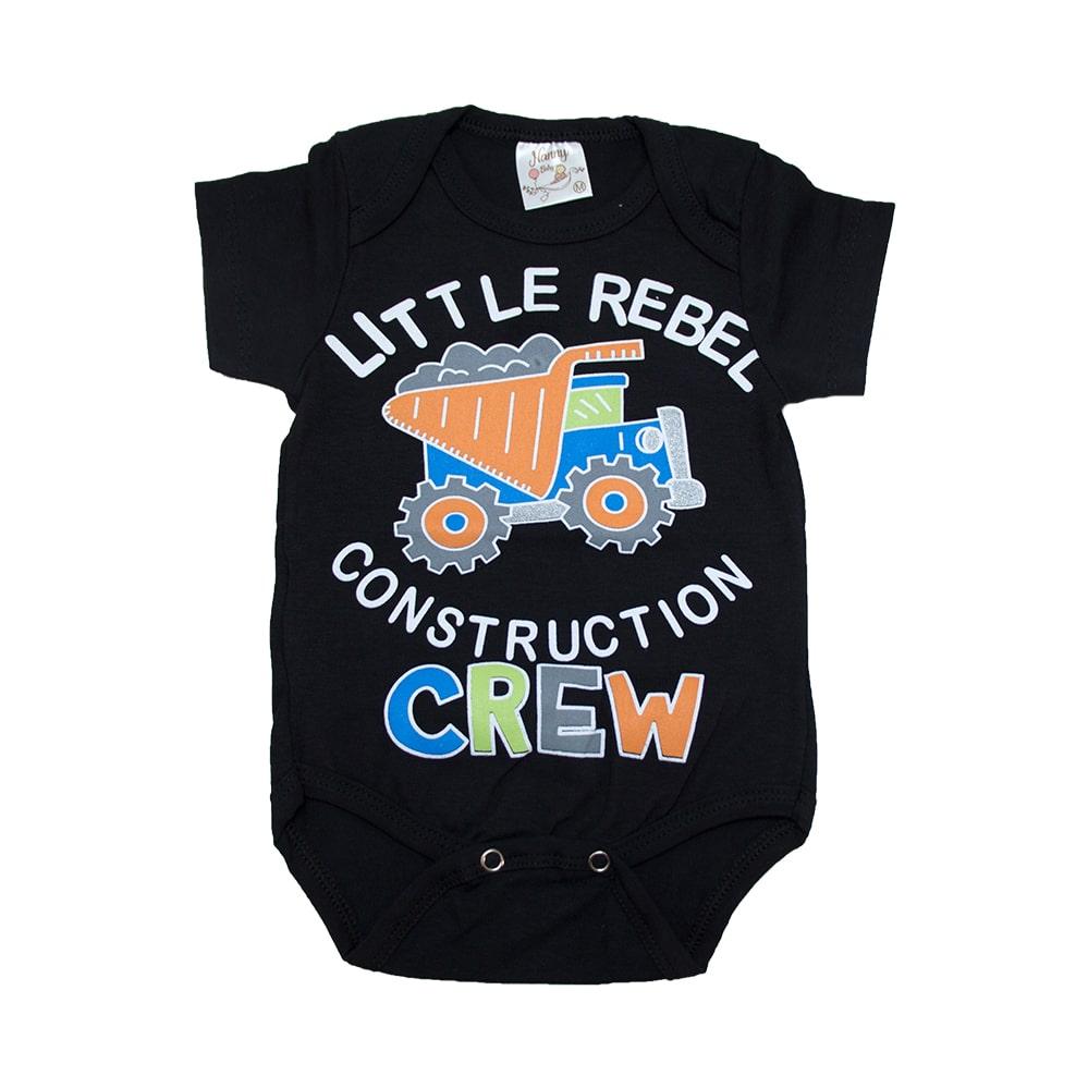 Body Bebê Caminhão Preto  - Jeito Infantil