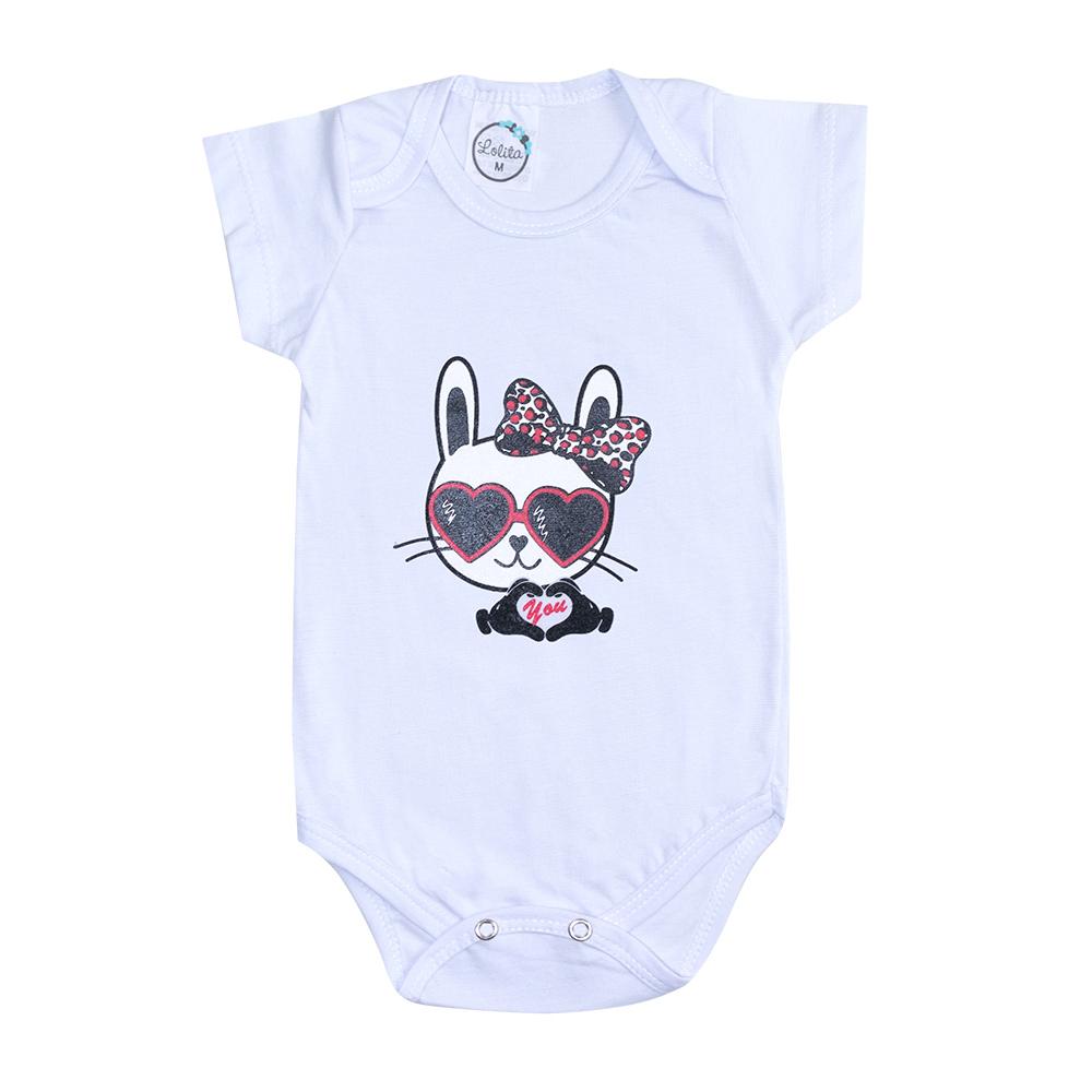 Body Bebê Cat Branco  - Jeito Infantil