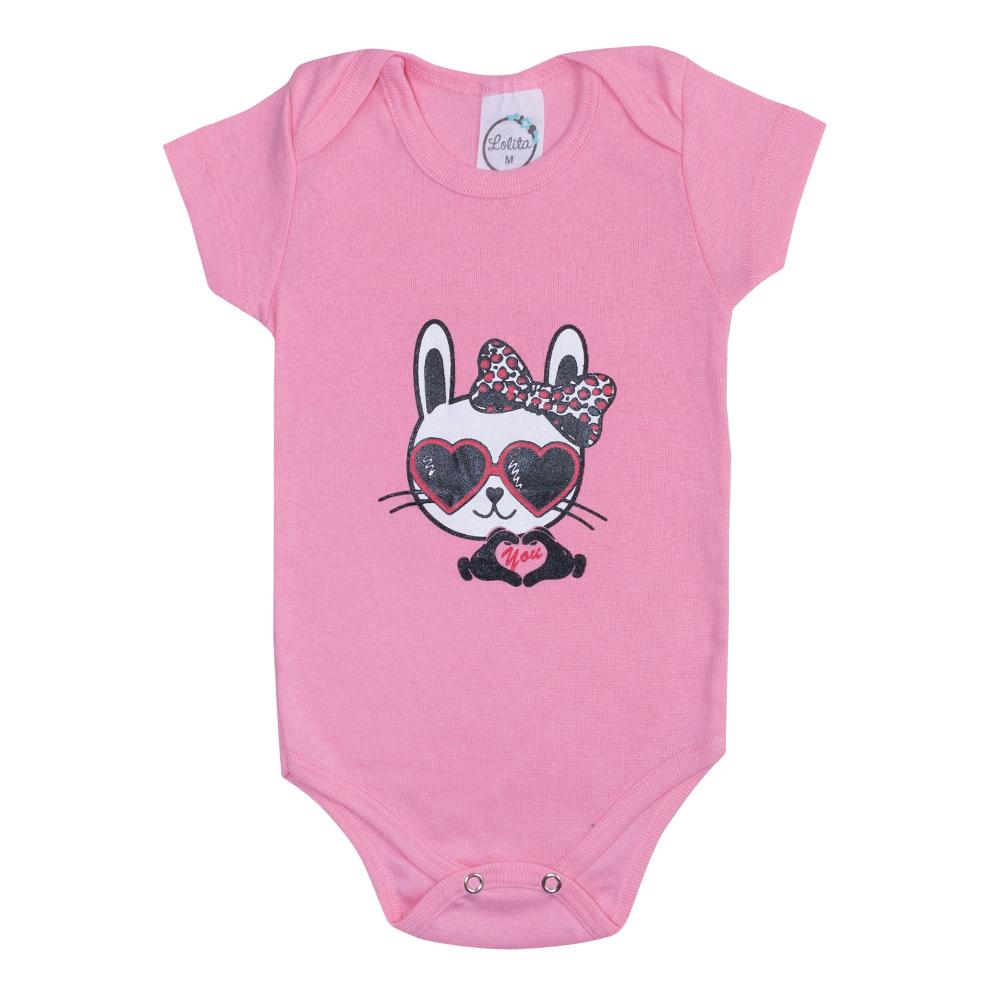 Body Bebê Cat Rosa  - Jeito Infantil