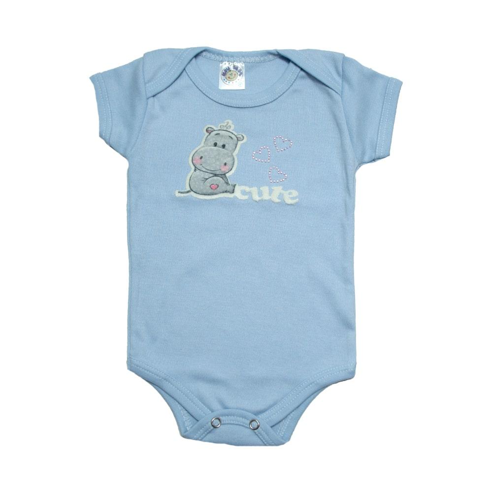 Body Bebê Cute  Azul  - Jeito Infantil