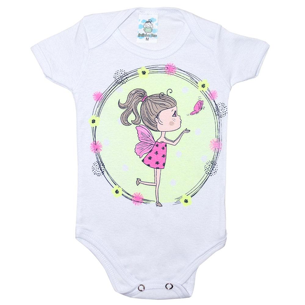 Body Bebê Fadinha Branco  - Jeito Infantil