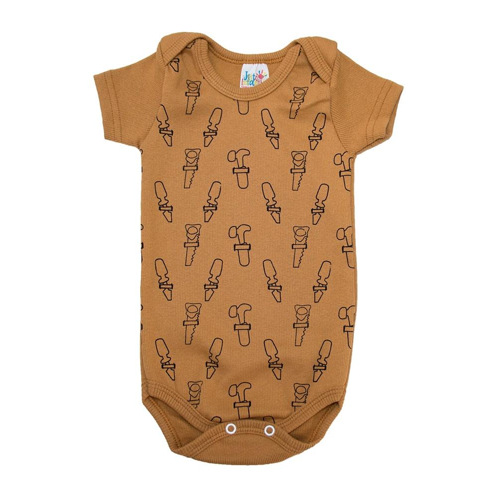 Body Bebê Ferramentas Caramelo  - Jeito Infantil