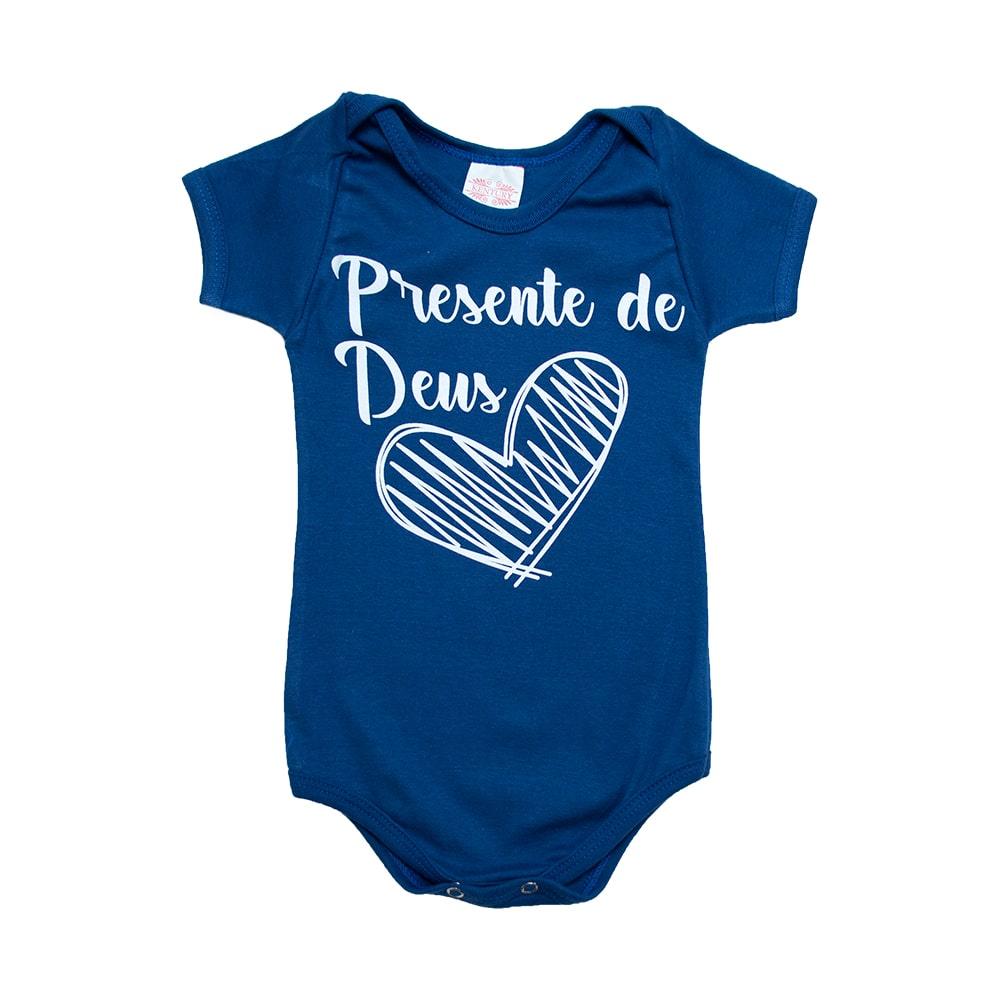 Body Bebê Frase Presente De Deus  Royal  - Jeito Infantil