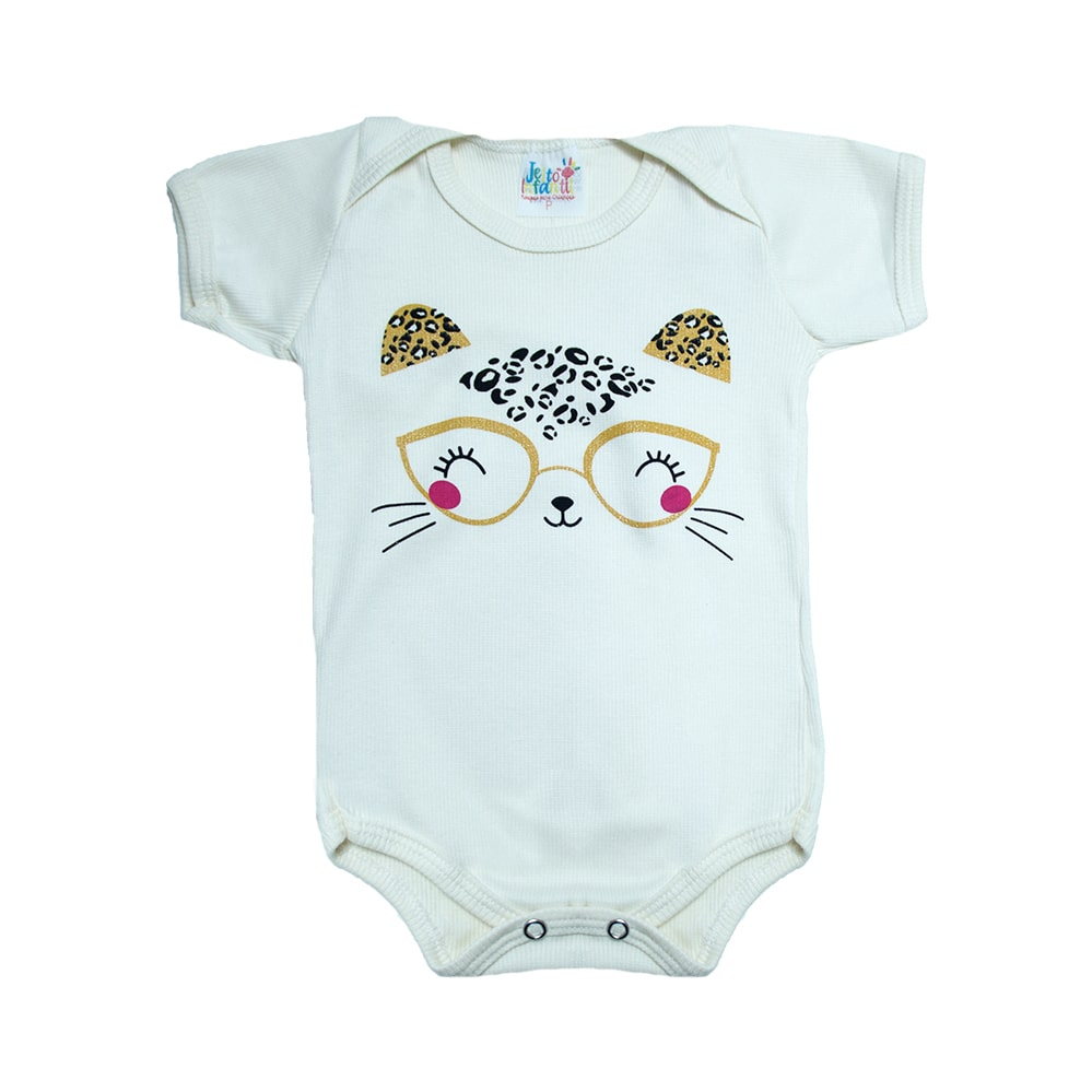 Body Bebê Gatinha Pérola  - Jeito Infantil